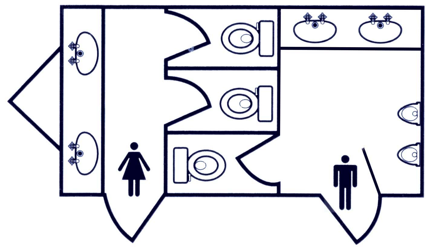 The Poppy Luxury Toilets for hire - floorplan